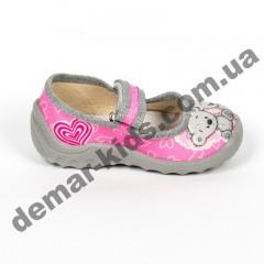 Детские тапочки Waldi серо-розовые маленькие