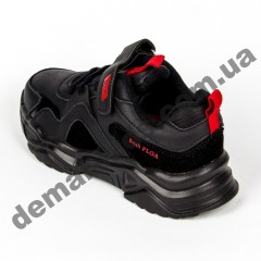 Детские кроссовки Baas K6138-1 черно-красные
