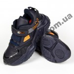 Детские кроссовки Baas K6158-3 черно-оранжевые