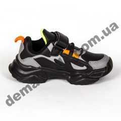 Детские кроссовки Baas K6802-11 черно-серые 25-30