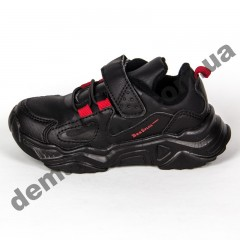 Детские кроссовки Baas K6802-1 черно-красные 25-30