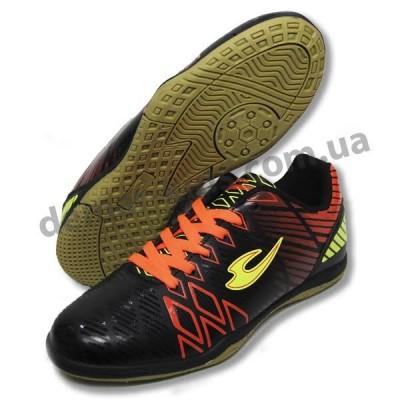 Детские футбольные футзалки ( бампы )Lancast черно-оранжевые