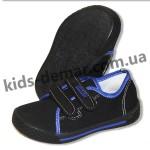 Детские кеды - мокасины Super gear А 9803 / 9805 (черно-синие)