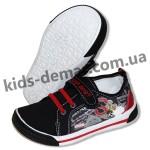 Детские кеды Super Gear черно-красные 015