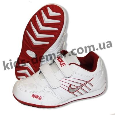 Детские кроссовки Nike бело-красные 001( винил )