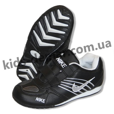 Детские кроссовки Nike черные 001( винил )