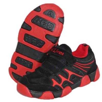 Детские кроссовки BIKU-KIDS черно-красные