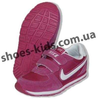 Детские кроссовки NIKE малиново-белые микропора