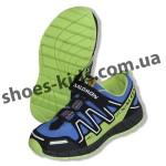 Детские кроссовки Salomon Speed Cross 2 черно-зеленые