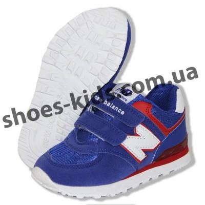 Детские кроссовки New Balance голубо-белые