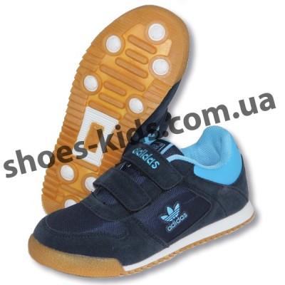 Детские кроссовки Adidas синие ( полиуретан )