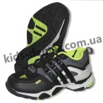Детские кроссовки Adidas серо-зеленые ( шнурок )