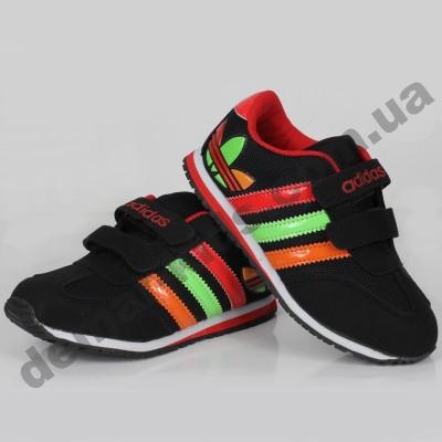 Детские кроссовки Adidas черно-красные