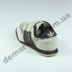 Детские кроссовки Adidas бежево-коричневые ( сквозная сетка )