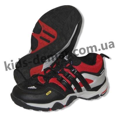 Детские кроссовки Adidas черно-красные ( шнурок )