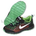 Детские кроссовки NIKE черно-зелено-красные