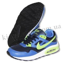 Детские кроссовки NIKE AIR MAX сине-зеленые