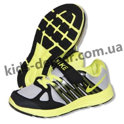 Детские кроссовки Nike черно-серо-зеленые