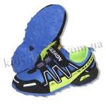 Детские кроссовки SALOMON сине-зеленые