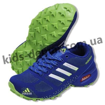 Детские кроссовки Adidas сине-зеленые ( подросток )