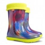 Детские резиновые сапоги HAWAI LUX PRINT af ( цветные штрихи )