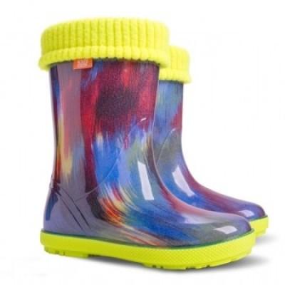 Детские резиновые сапоги DEMAR HAWAI LUX PRINT af ( цветные штрихи )