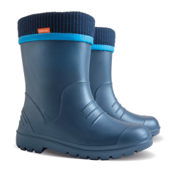 Детские резиновые сапоги Demar DINO D ( синие металлик )