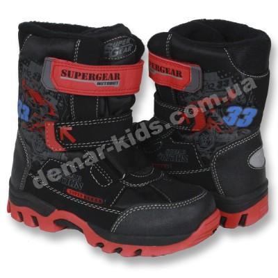 Детские термоботинки Super Gear B 195   B 196 (черно-красные) f6e11e5a5c7
