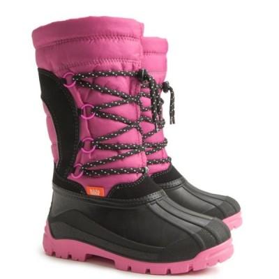 Детские зимние сапоги Demar SAMANTA (A) розово-черные