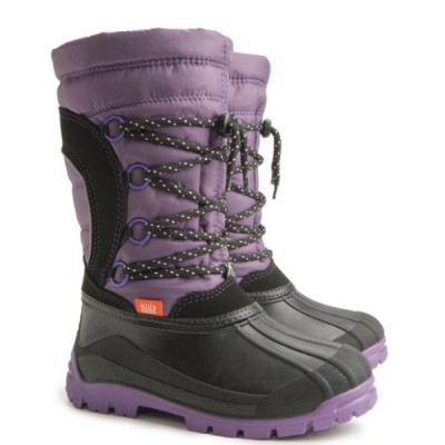 Детские зимние сапоги Demar SAMANTA (B) фиолетово-черные